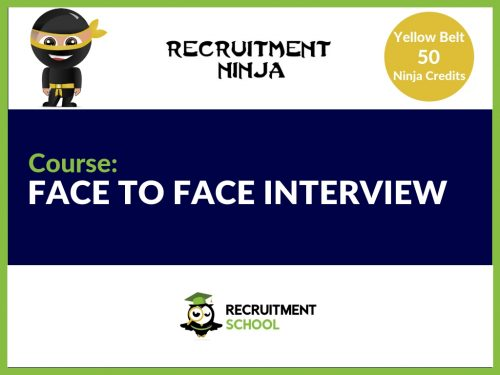 Face to face interviewing in recruitment
