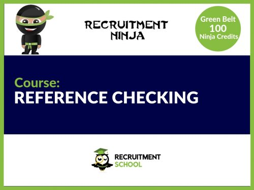 How to carry out a reference check in Recruitment