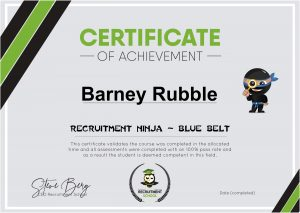 Certificate Blue Belt Sample