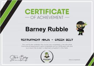 Certificate Green Belt Sample