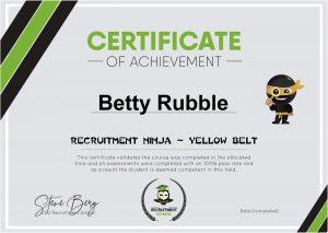 Certificate Yellow Belt Sample