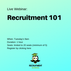 Live Webinar Recruitment 101