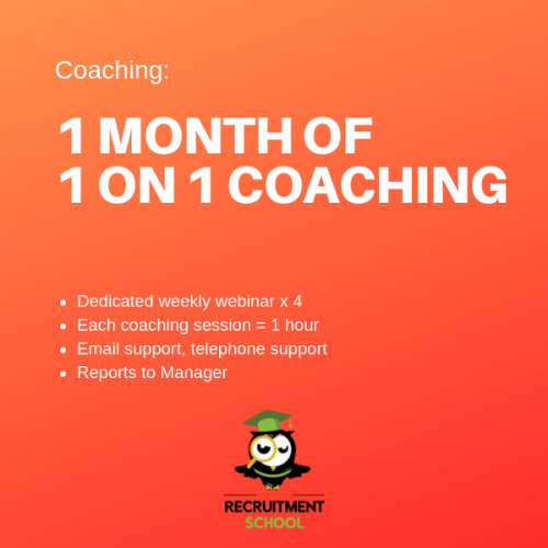 One month of recruitment coaching